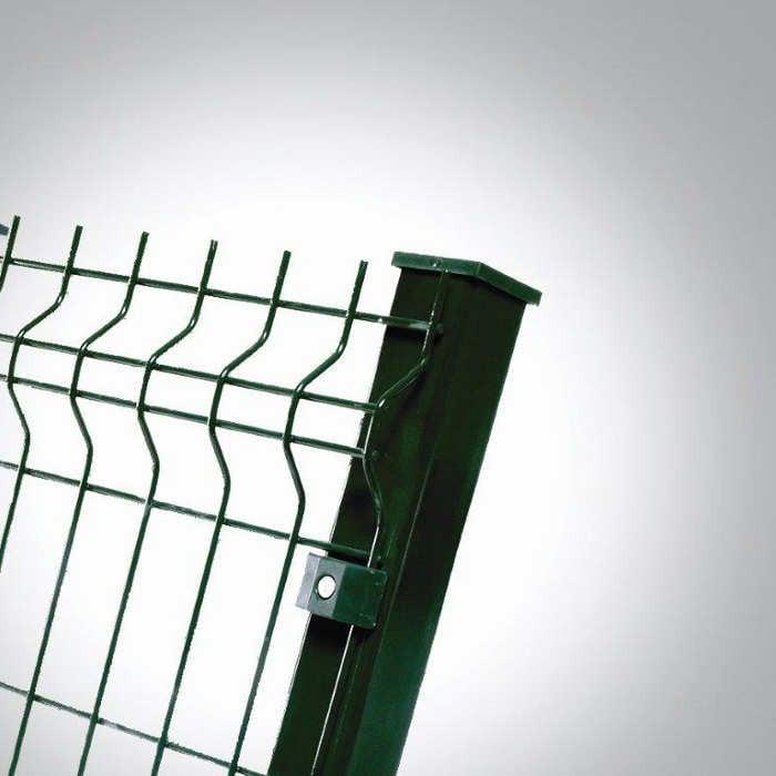 Poteau platine clôture rigide NBC - H1,73m - Acier galvanisé - fixation avec clip 2