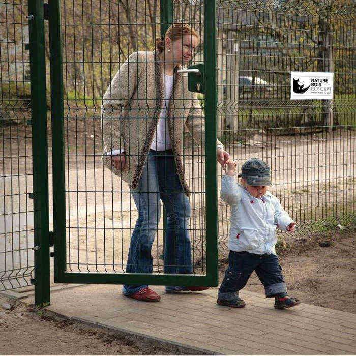 Pose portillon - Panneau clôture rigide NBC - H1,93m - L1,00m - Acier galvanisé