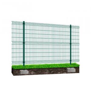 Kit à sceller clôture rigide NBC - H1,23m - L2,50m - Acier galvanisé - vert