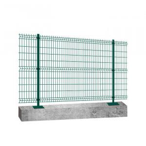 Kit platine clôture rigide NBC - H1,23m - L2,50m - Acier galvanisé - vert