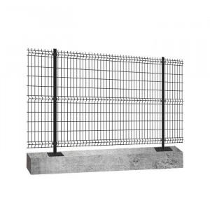 Kit platine clôture rigide NBC - H1,23m - L2,50m - Acier galvanisé - gris