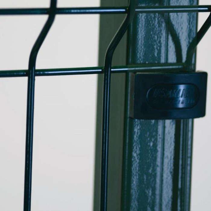 Poteau platine clôture rigide NBC - H1,73m - L2,50m - Acier galvanisé - fixation avec clip