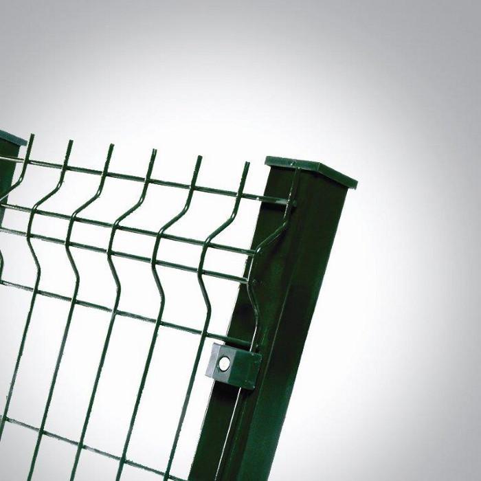 Poteau platine clôture rigide NBC - H1,73m - L2,50m - Acier galvanisé - fixation avec clip 2