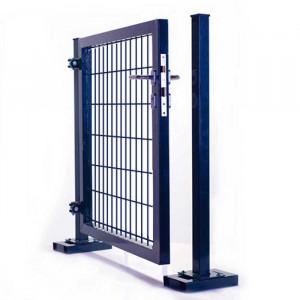Portillon clôture rigide NBC - H1,73m - L0,80m - Acier galvanisé - gris