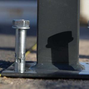 Fixation goujon pour poteau platine clôture rigide NBC - Acier galvanisé - Diam 10mm - L85mm - Lot de 4