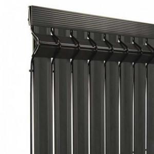 Kit occultant clôture rigide NBC - H1,73m - L2,50m - Lames occultantes PVC - gris