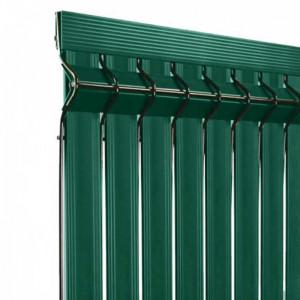 Kit occultant clôture rigide NBC - H1,73m - L2,50m - Lames occultantes PVC - vert