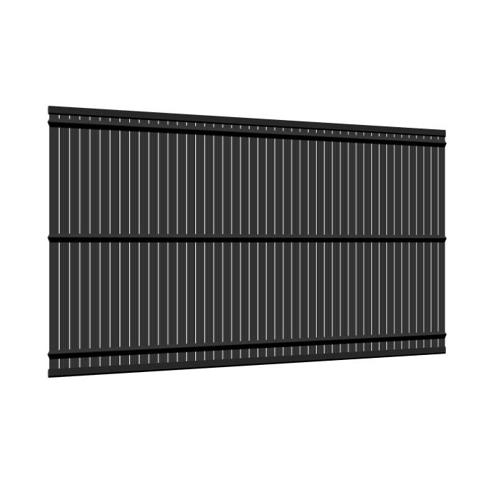 Kit occultant clôture rigide NBC - H1,93m - L2,50m - Lames occultantes PVC - gris 2