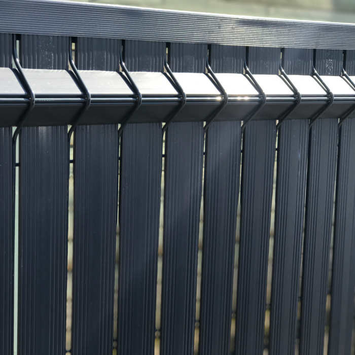 Kit occultant clôture rigide NBC - H1,93m - L2,50m - Lames occultantes PVC - gris 3