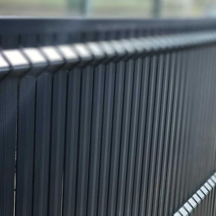 Kit occultant clôture rigide NBC - H1,93m - L2,50m - Lames occultantes PVC - gris 4