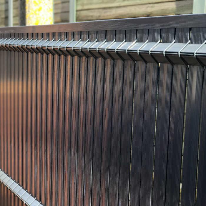 Kit occultant clôture rigide NBC - H1,93m - L2,50m - Lames occultantes PVC - gris 5