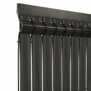 Kit occultant clôture rigide NBC - H0,93m - L2,23m - Lames occultantes PVC - gris