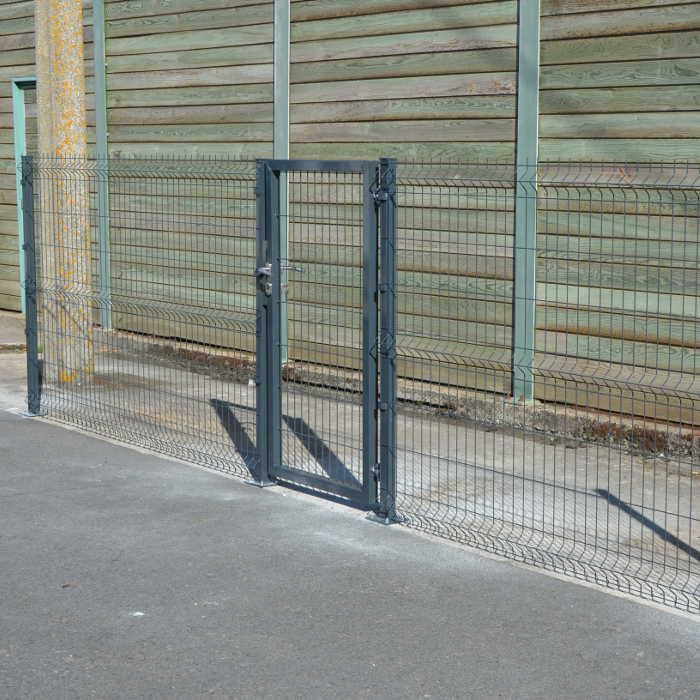 Portillon clôture rigide NBC - H1,93m - L1,00m - Acier galvanisé 2