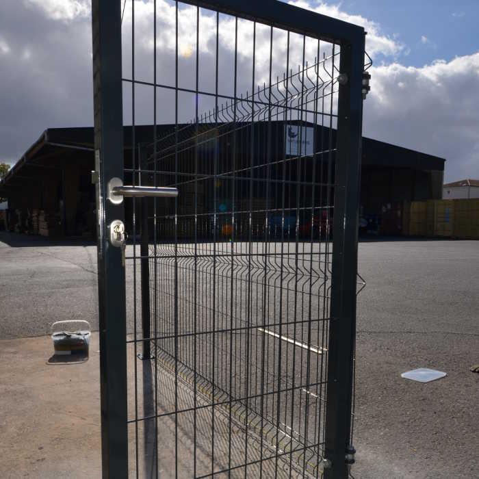 Portillon clôture rigide NBC - H1,93m - L1,00m - Acier galvanisé