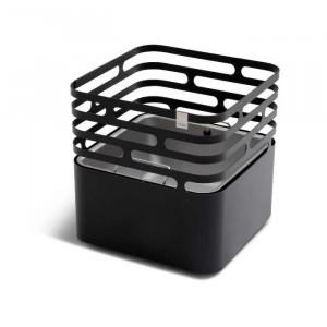 Brasero Cube - Höfats - Couleur noir - Cuvette réversible
