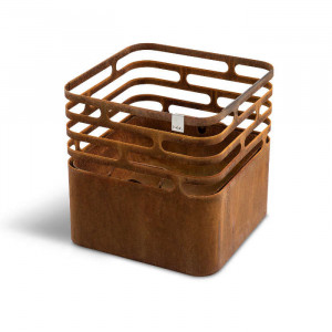 Brasero Cube - Höfats - Couleur rouille