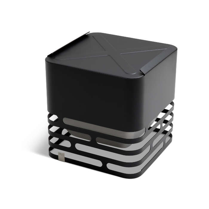 Brasero Cube - Höfats - Couleur noir - Table d'appoint design