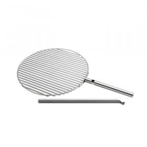 Grille cuisson inox pour brasero Triple - Höfats - Diamètre 55cm - Pivotante - Réglable en hauteur - Support inclus