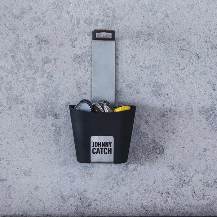 Décapsuleur magnétique avec récipient Johnny Catch - Höfats - Fixation mur - Contenance 60 capsules