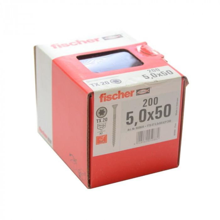 Boîte de 200 vis Fischer A2 5x50 mm