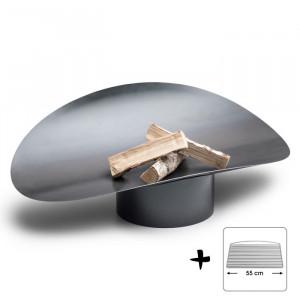 Ensemble brasero Ellipse - Höfats - Grille acier barbecue à charbon
