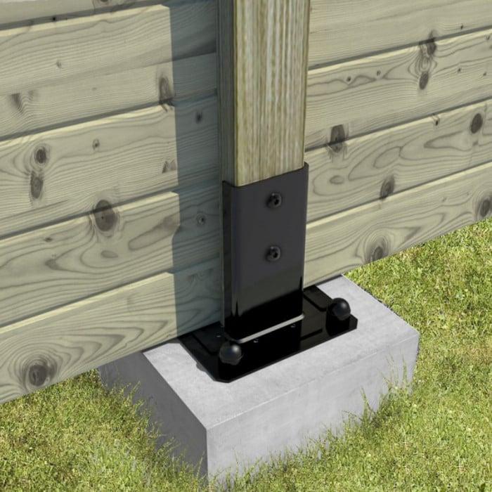 Support poteau de clôture palissade bois