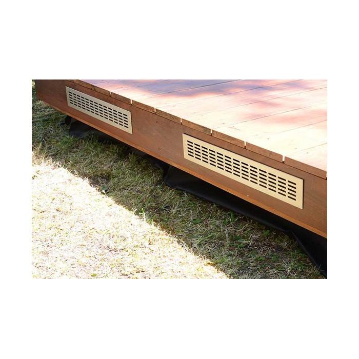 la grille implémentée sur une lame de terrasse