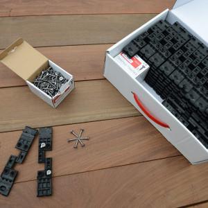 Ensemble d'un kit de fixation invisible Hapax fixing pro