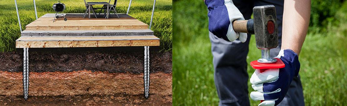 Vis de fondation terrasse bois : fixez la structure de votre terrasse