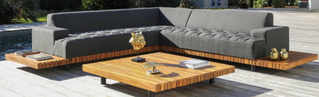 Canapé, Fauteuil, Table basse : Votre Salon bas de jardin tout confort