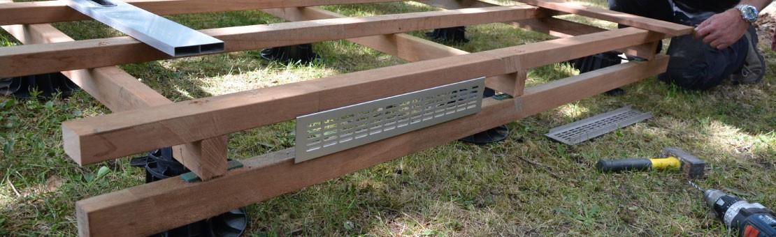 Lambourdes pour terrasse en bois pin et exotique