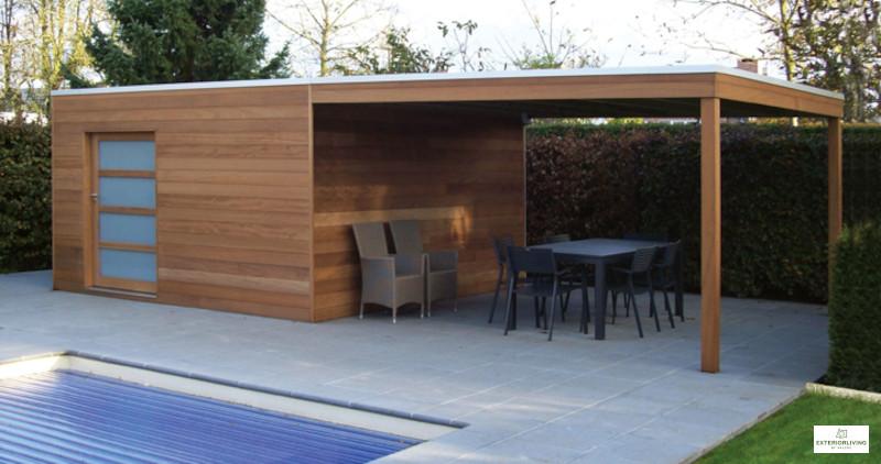 Box de jardin en bois de la marque Exterior Living - Hauteur 2,23 m