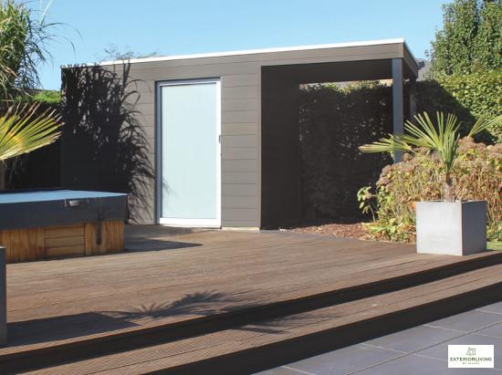 Box en bois composite de la marque Exterior Living - Porte coulissante