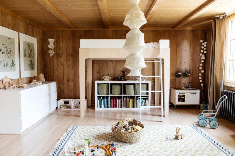 Salon bois de bardage traditionnel