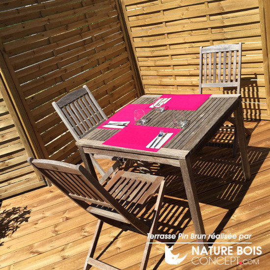 Terrasse en Pin brun strié AB - Nature Bois Concept