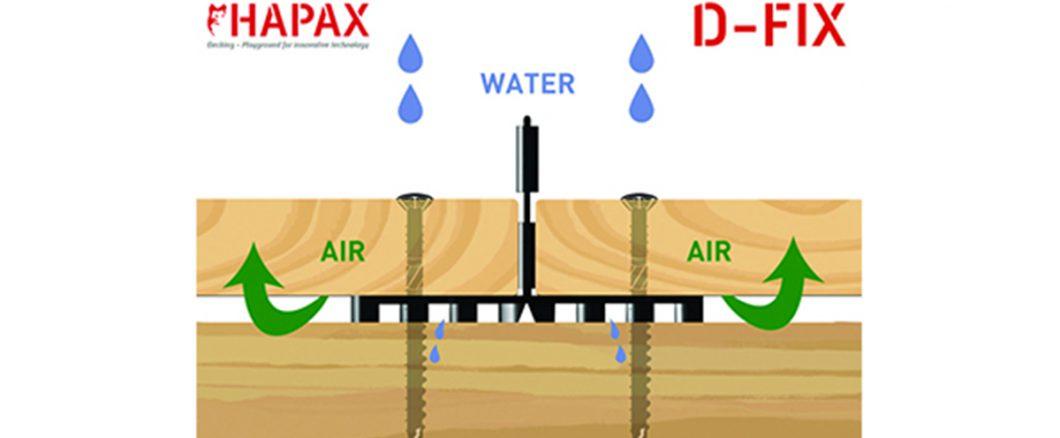 hapax D-fix pour aération de la terrasse