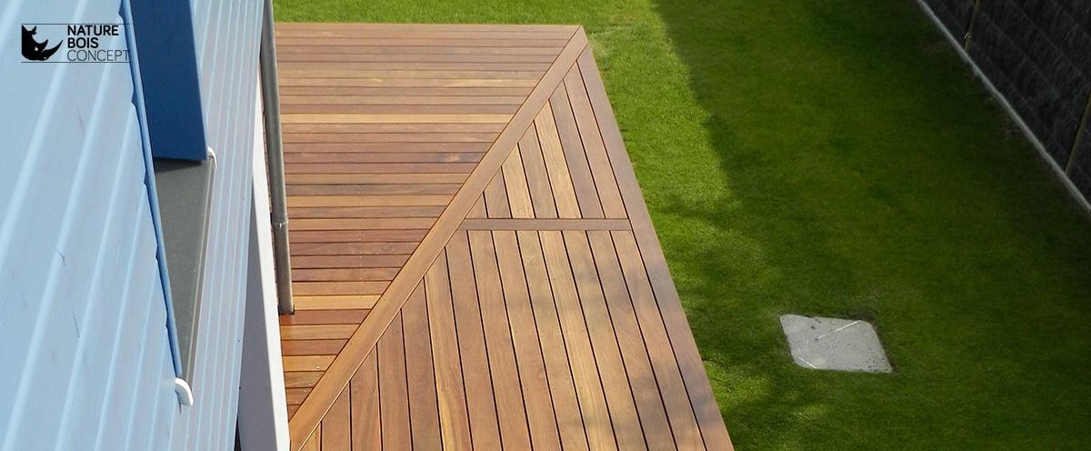 Suivez pas à pas la construction dune terrasse bois en image ~ Ecart Entre Lame De Terrasse Bois