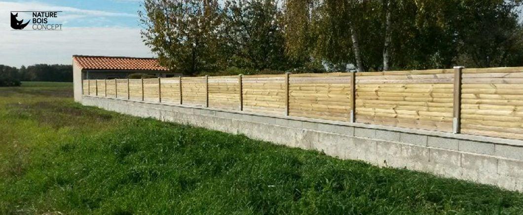 palissade en bois protection jardin