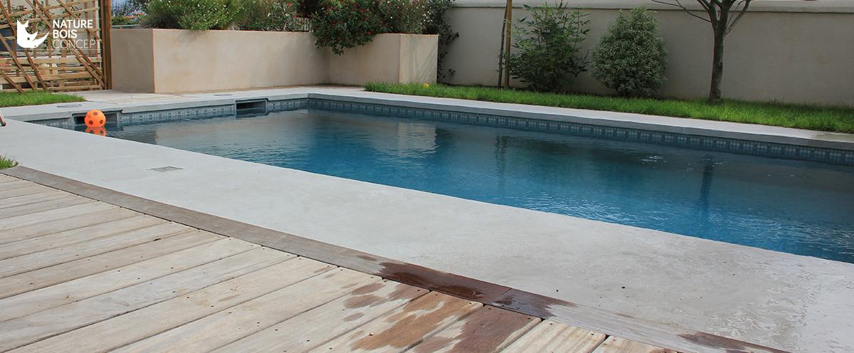 Tour de piscine en bois exotique Cumaru réalisée en PoitouCharentes