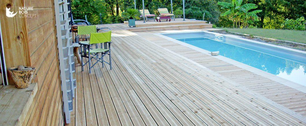 bardage et terrasse en mélèze bois résineux
