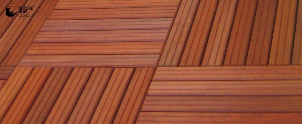 dalle en bois de terrasse en caillebotis
