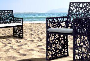 chaise jardin plage zen
