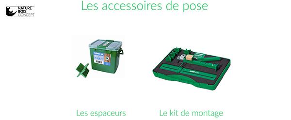 choix des accessoires espaceurs ou kit montage