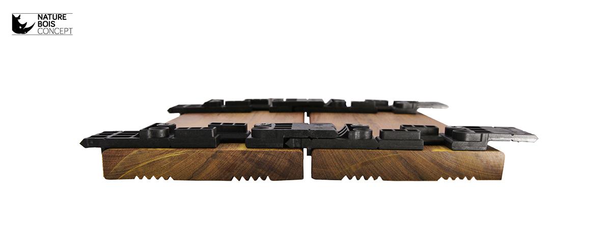 La terrasse bois en fixation invisible par clips  attention ?