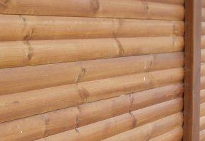 clôture palissade de bois