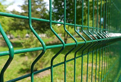 clôture bois NBC verte