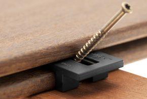 fixation par clips de terrasse bois hardwood clip