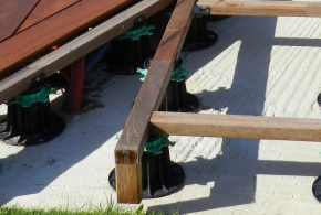 construction terrasse bois plots
