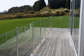 garde corps verre trempé protection terrasse bois