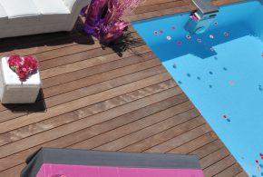 bord de piscine zen